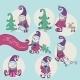 Set of Christmas Gnomes - GraphicRiver Item for Sale
