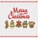 Vector Christmas Card. Gingerbread - GraphicRiver Item for Sale