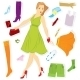 Clothes Stickers and Girl - GraphicRiver Item for Sale