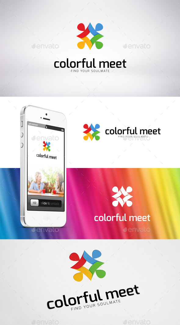 Colorful Meet Logo Template