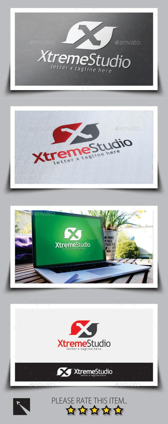 Xtreme Studio Letter (X) Logo Template
