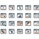 Icon Set. Web Development and SEO. Flat Design - GraphicRiver Item for Sale