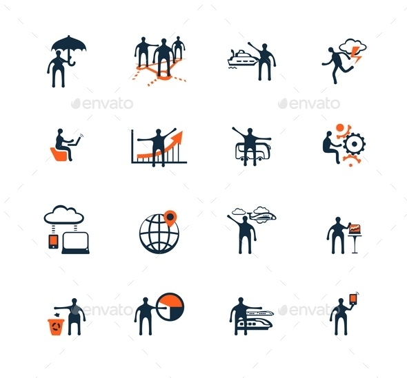 Business People Icons. Management, Human Resources