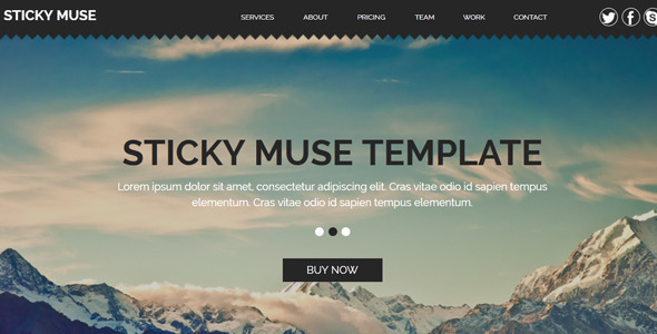 Sticky - Creative Muse Template