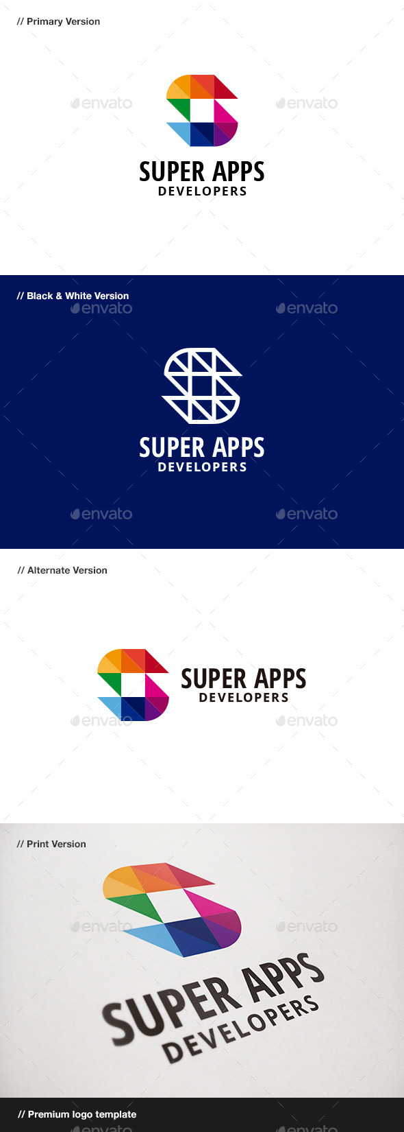 Super Apps - Abstract & Letter S Logo