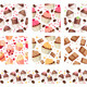 Set with Six Seamless Patterns with Cakes - GraphicRiver Item for Sale