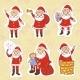 Doodle Santa Claus Set - GraphicRiver Item for Sale
