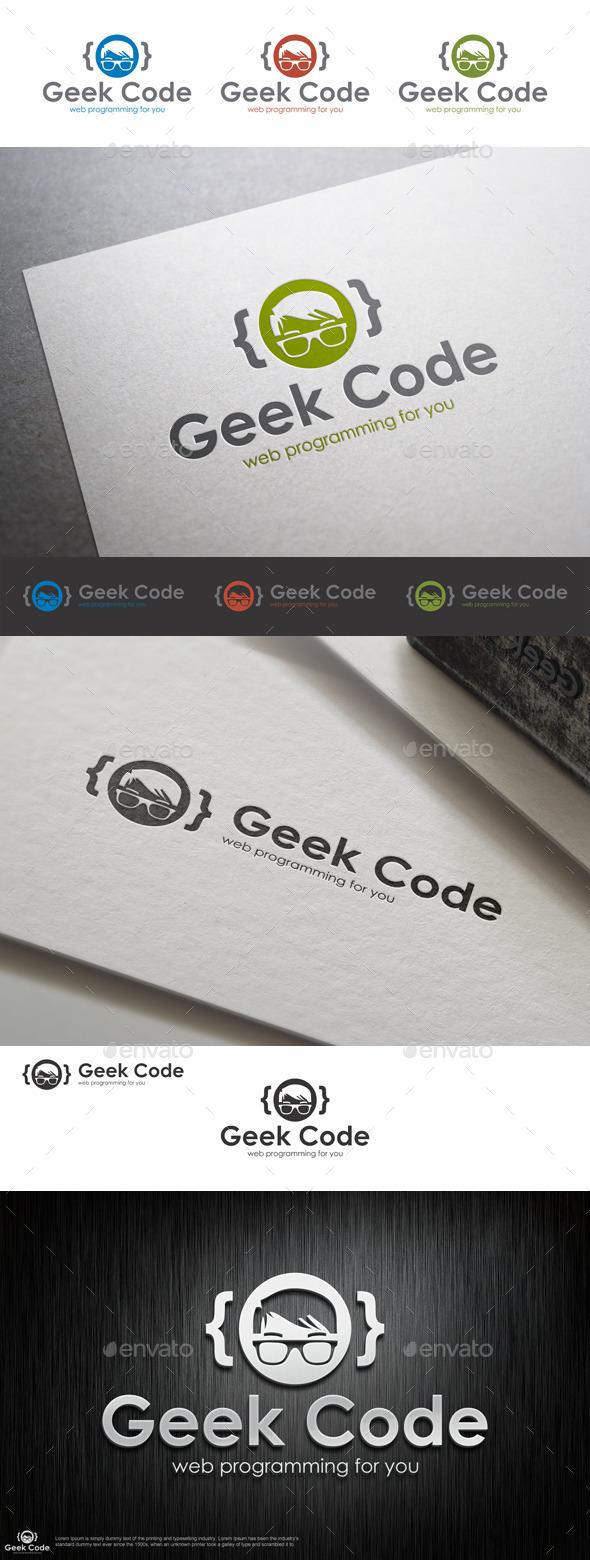 Geek Code Logo Template