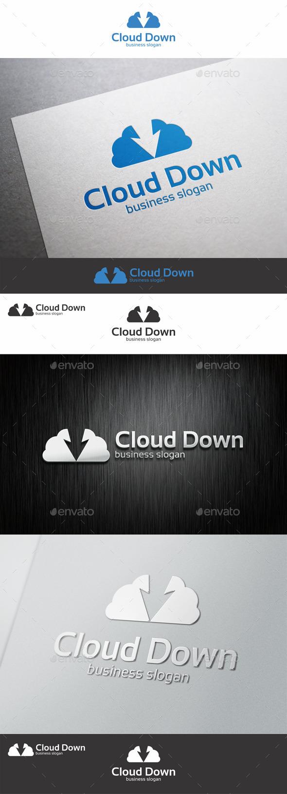 Cloud Server Download Logo