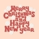 Merry Christmas and Happy New Year Lettering - GraphicRiver Item for Sale