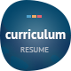 Curriculum: Responsive Resume / One-Page Portfolio - ThemeForest Item for Sale