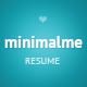 MinimalMe - Minimal HTML CV / Resume Template - ThemeForest Item for Sale