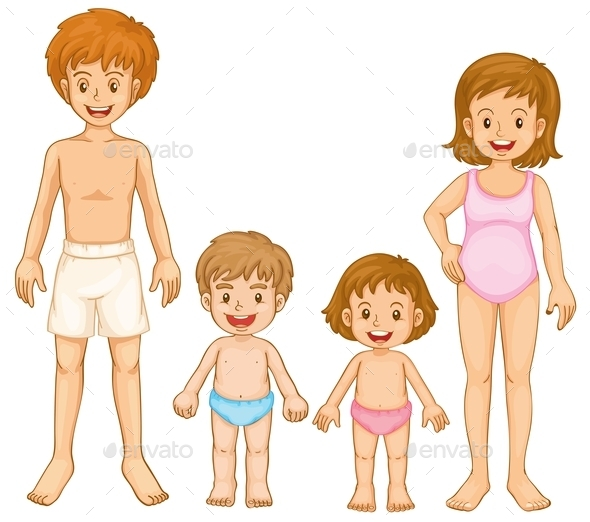 A Family in their Swimming Attire