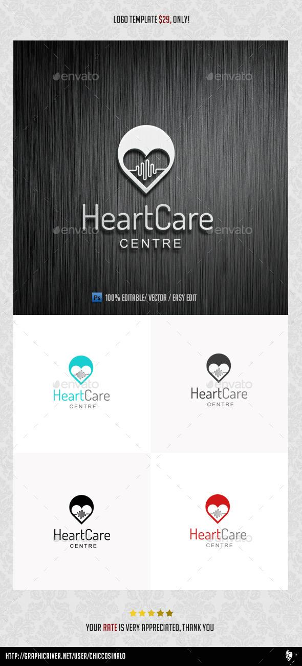 HeartCare Logo Template