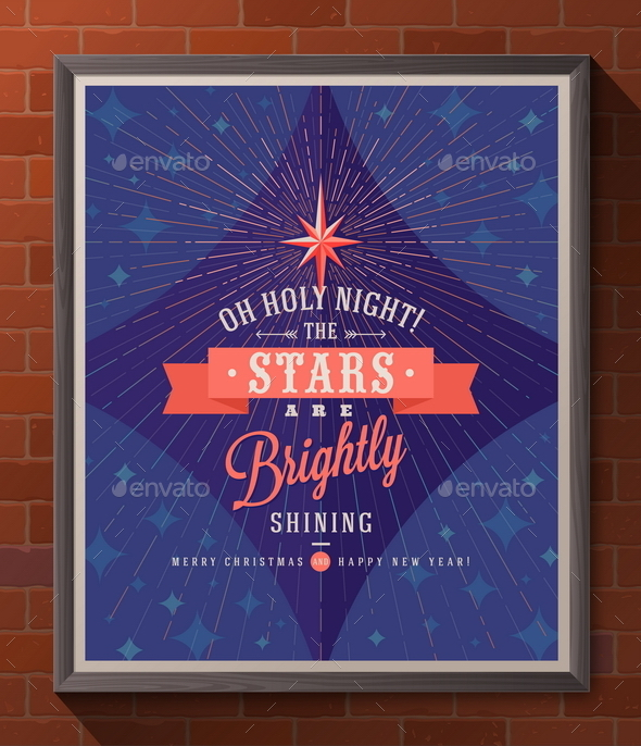 Holidays Type Design with Christmas Star