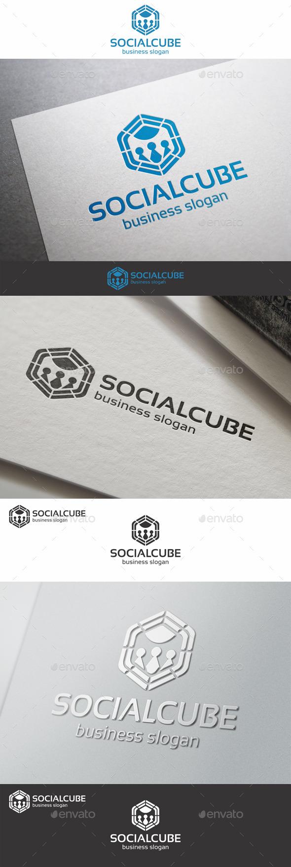 Social Cube Network Logo