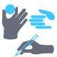 Hands Icon Set for Website or Application - GraphicRiver Item for Sale