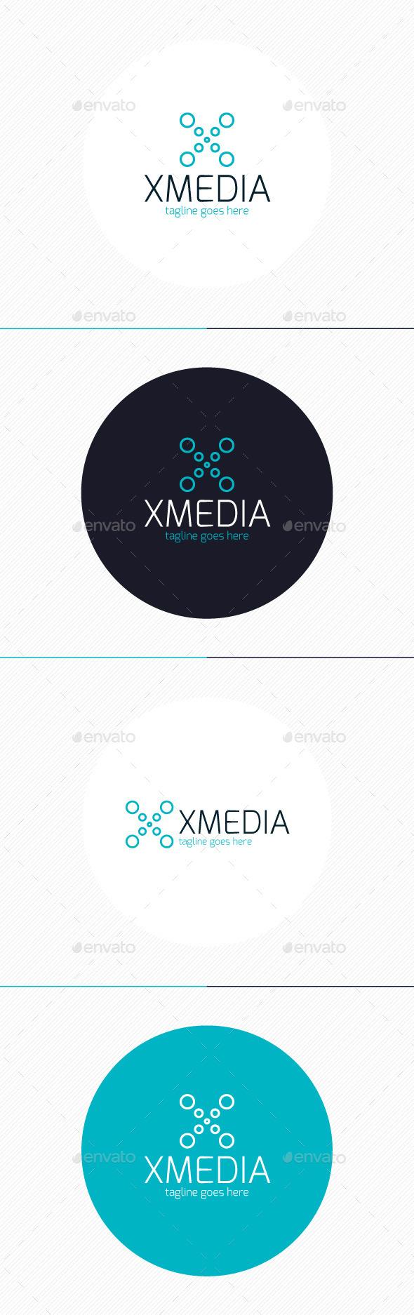 X Media Logo — Letter X