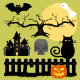 Halloween Vector Silhouettes and Creatures - GraphicRiver Item for Sale