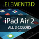 Element3D - iPad Air 2 - 3DOcean Item for Sale