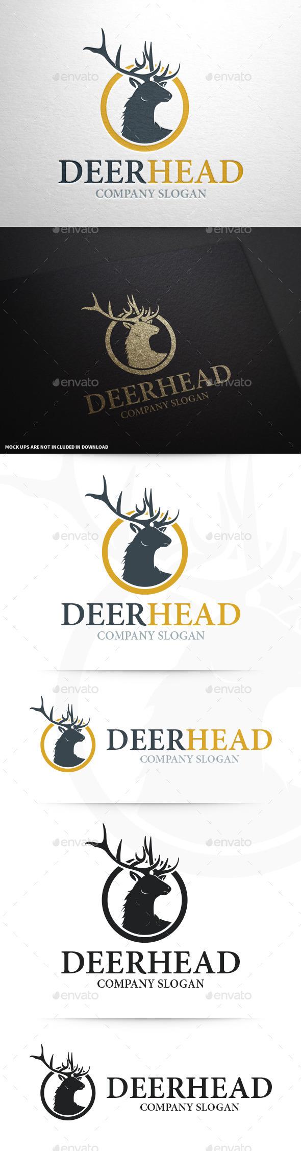 Deer Head Logo Template