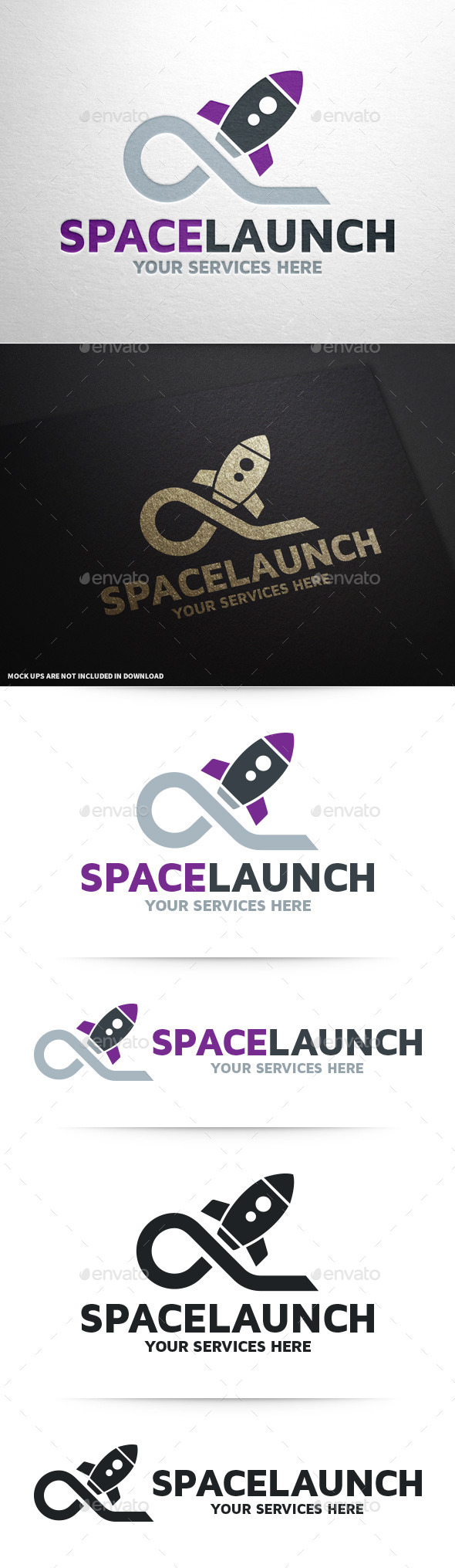 Space Launch Logo Template