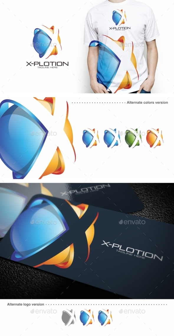 X-plotion / X Letter - Logo Template