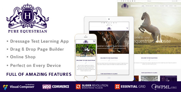 Pure Equestrian - Horse And Stable Yard Management WordPress Theme