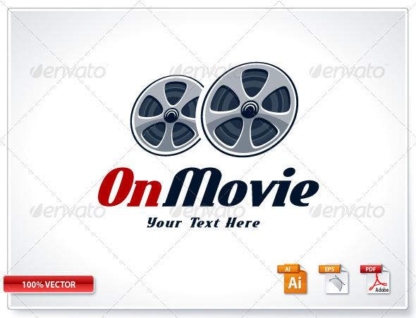 Retro Cinema Logo Template