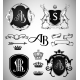 Vintage Crests, Ribbons, Monograms and Crowns - GraphicRiver Item for Sale