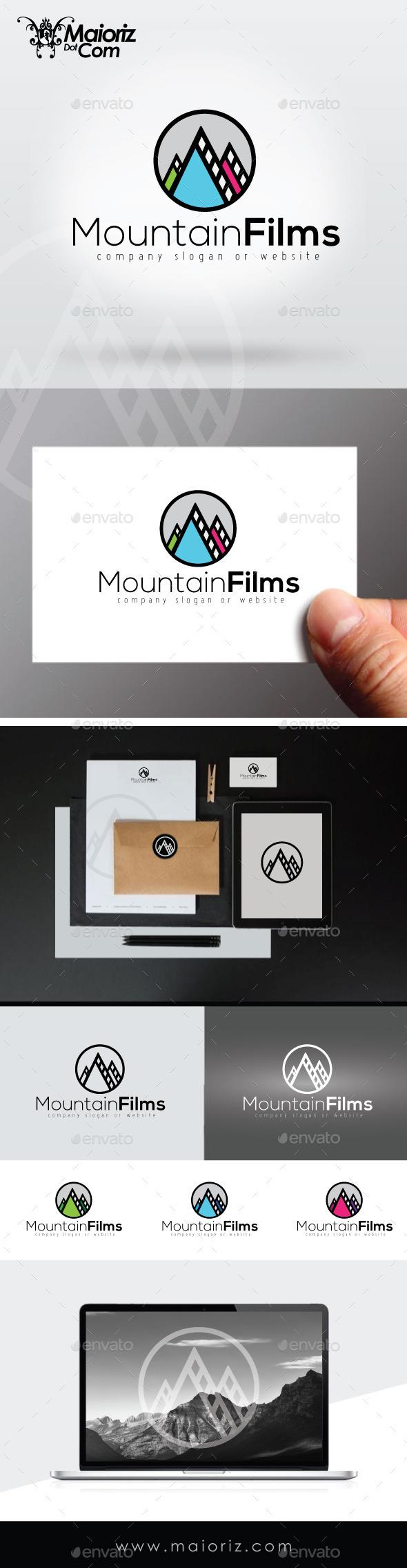 Mountain Films Logo Template