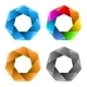 Set of Colorful Abstract Polygon Icons. - GraphicRiver Item for Sale