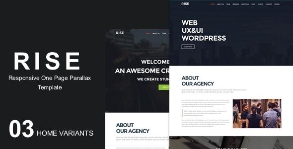 RISE -OnePage Agency Portfolio Template