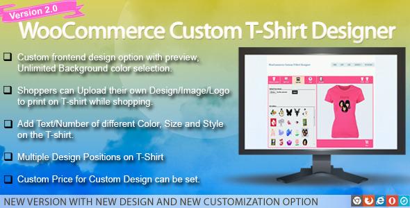 WooCommerce Custom T-Shirt Designer Download