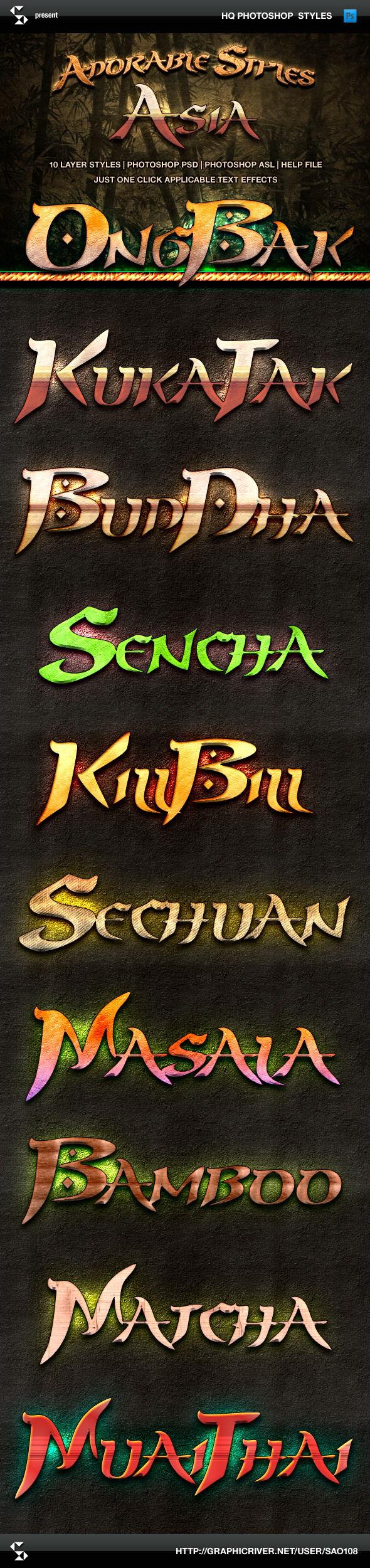 Adorable Asia Style Text Effects