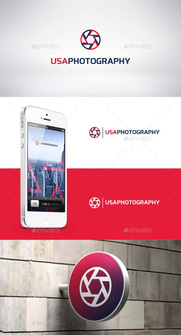 USA Photography Logo Template