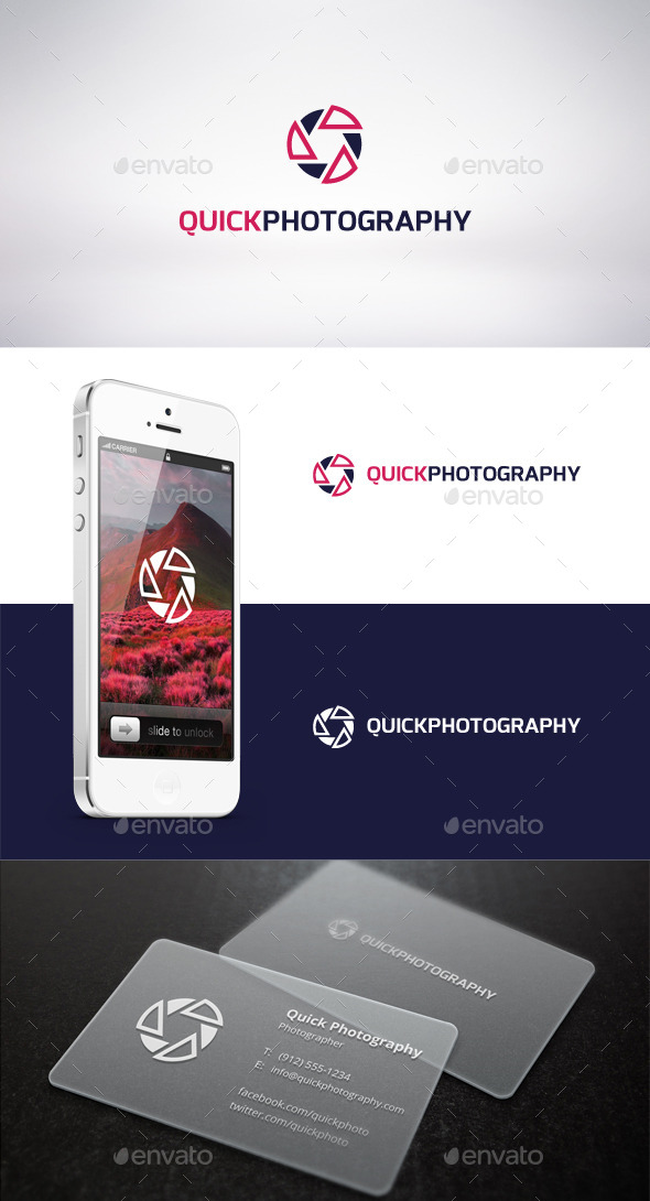 Quick Photography Logo Template