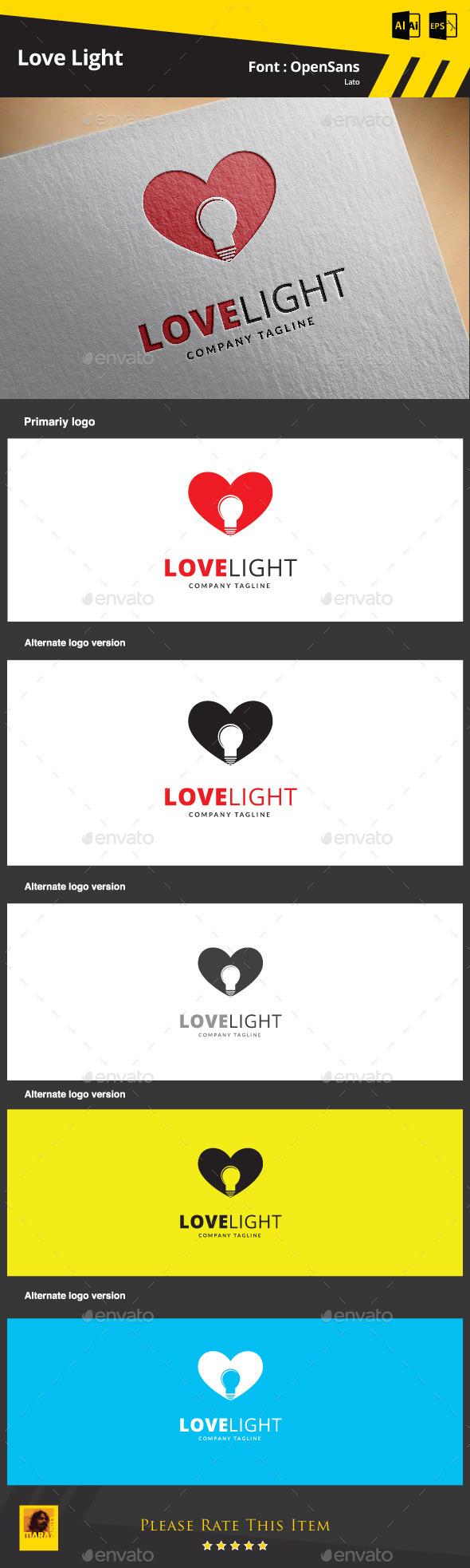 Love Light Logo Template