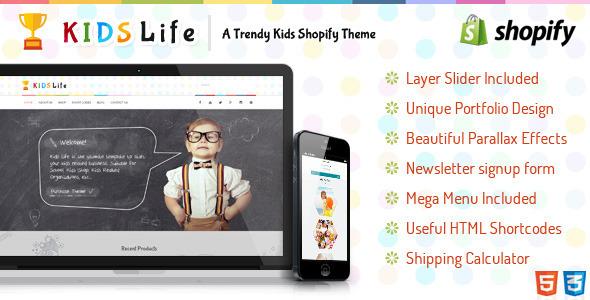 Kids Life - Shopify Theme
