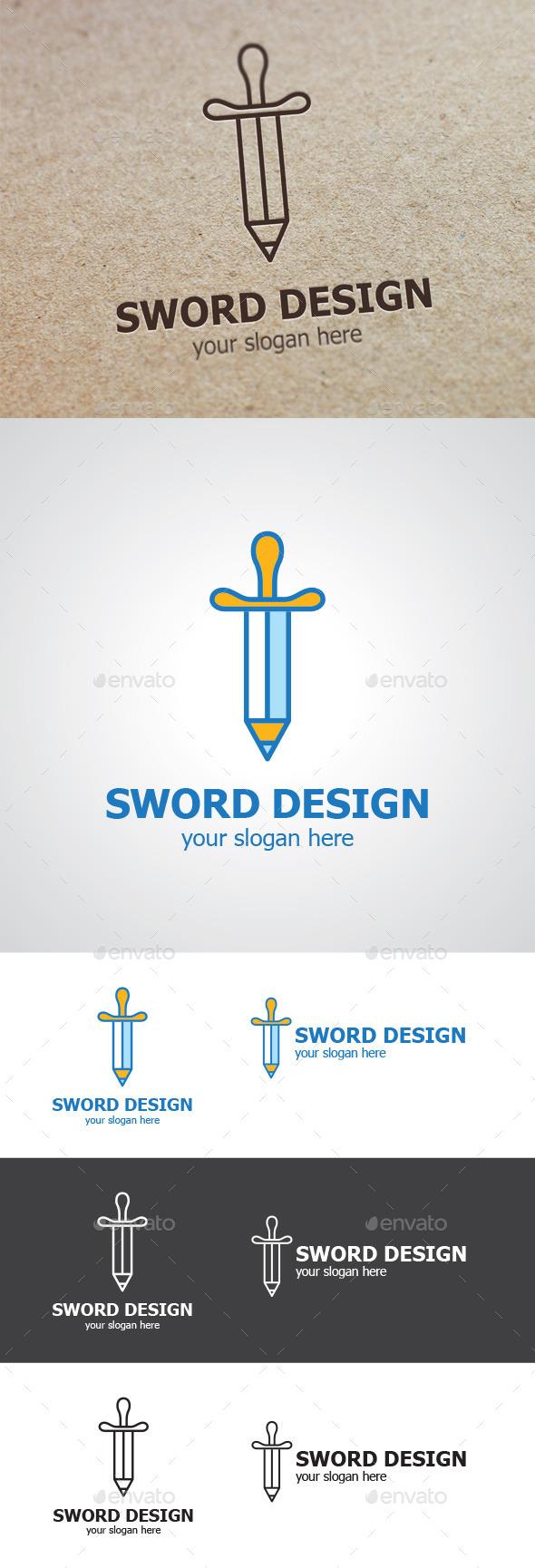 Pencil Sword Logo