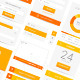 Minimal Orange Flat UI kit - GraphicRiver Item for Sale