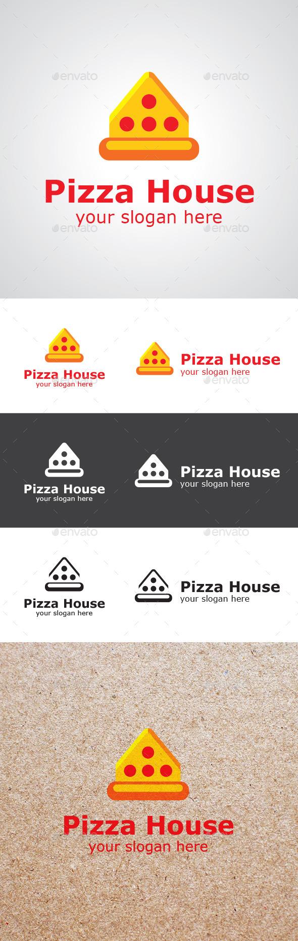 Pizza House Logo Design