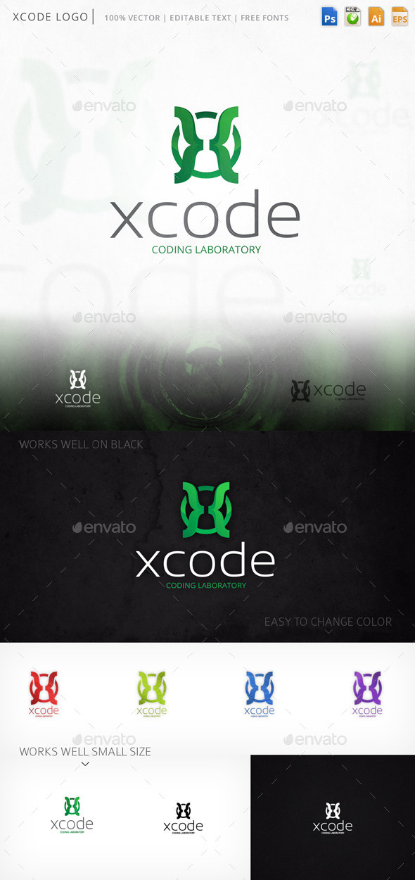 Xcode Letter X Logo Template