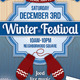 Winter Festival Poster or Flyer - GraphicRiver Item for Sale