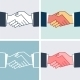 Flat Handshake Icons. - GraphicRiver Item for Sale