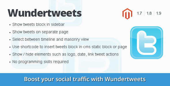 Wundertweets - twitter magento extension