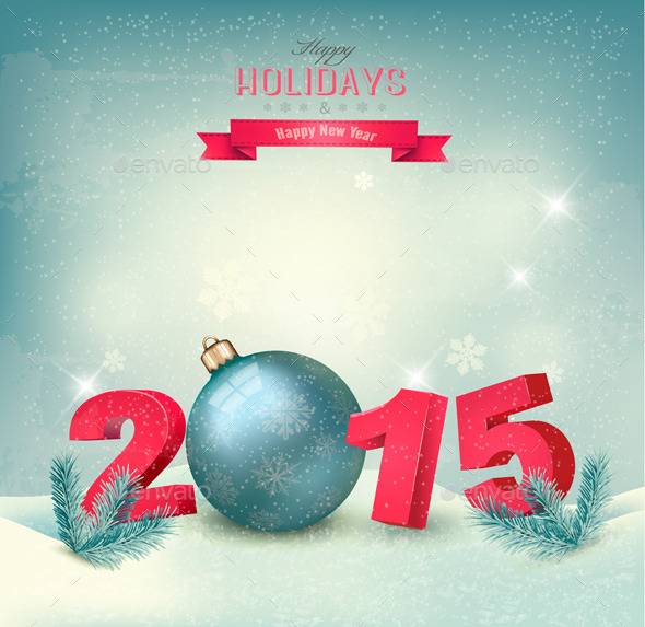 Happy New Year 2015 Template