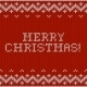 Card of Merry Christmas with Knitted Texture. - GraphicRiver Item for Sale