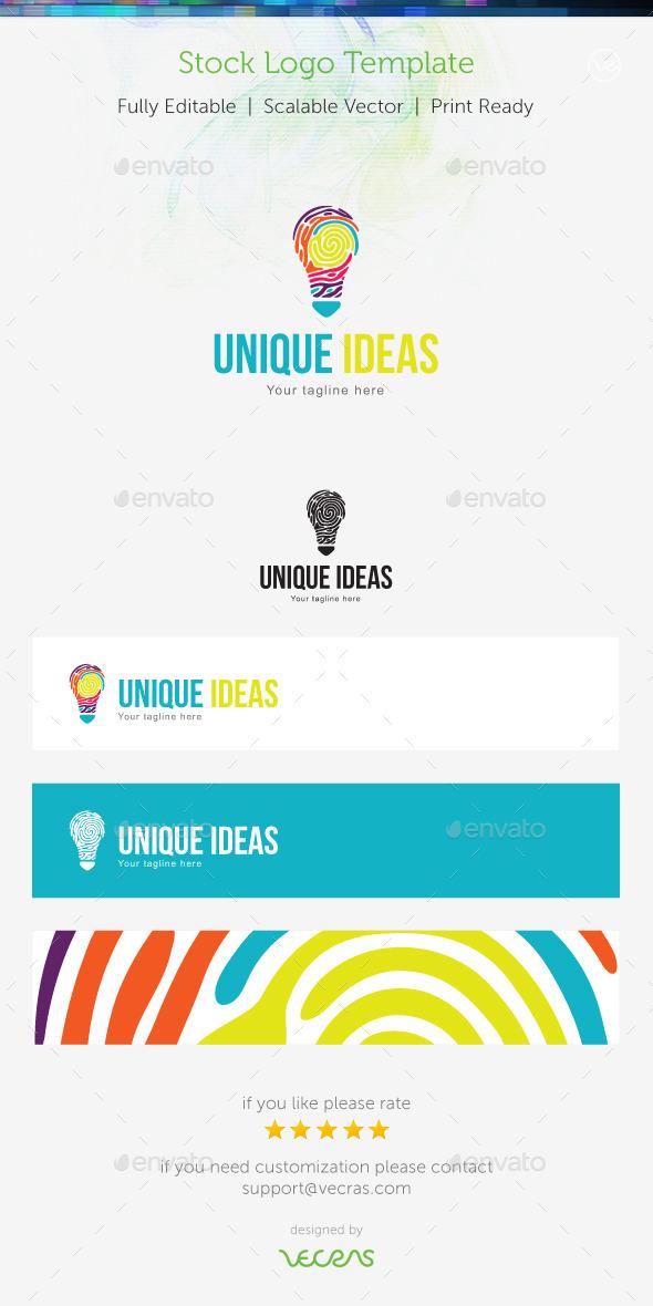 Unique Ideas Stock Logo Template
