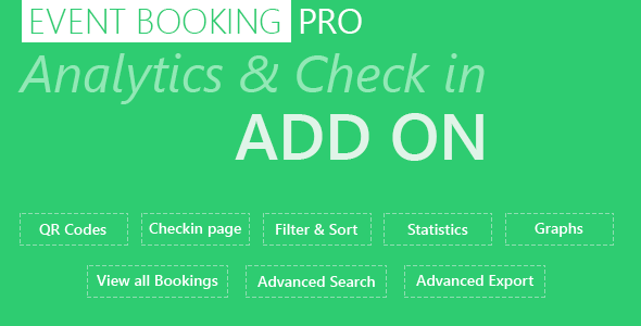 Event Booking Pro: Analytics & Checkin Addon Download